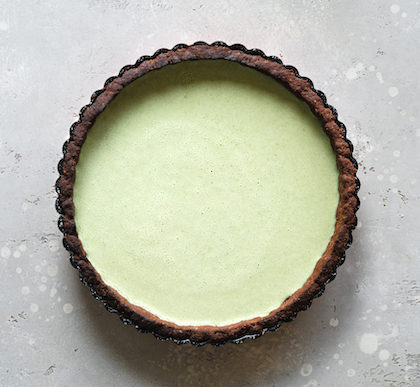 An image of a mint/chocolate flavored treat.