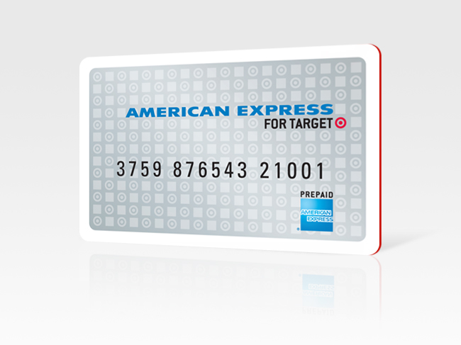 An image of the old American Express For Target prepaid debit card.